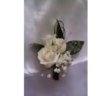 Cocarda cu mini rose albe CC07