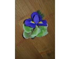 Cocarda cu iris si hortensie CC09