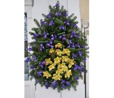 Coroana cu iris si orhidee C17