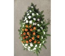 Coroana cu crizanteme C18
