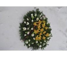 Coroana cu lalele si orhidee imperiala C09