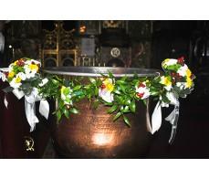 Decor cristelnita - ghirlanda cu santini CR06