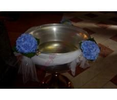Decor cristelnita cu hortensia albastra CR01
